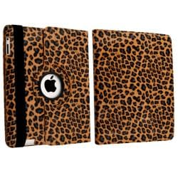 Brown Leopard 360-degree Swivel Leather Case for Apple iPad 2/ 3/ 4 - Thumbnail 2