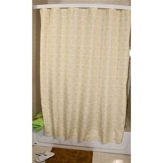 Sage Floral Dot Shower Curtain