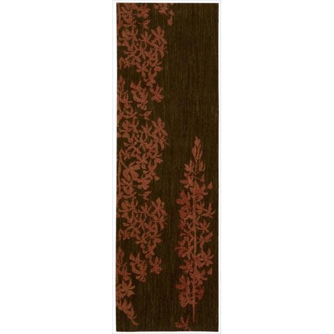 "Nourison Home Metropolitan Red Wool Runner Rug (2'3"" x 7'6"")"