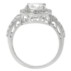 Journee Collection Rhodium-plated Round Cubic Zirconia Engagement-style Ring - Thumbnail 1