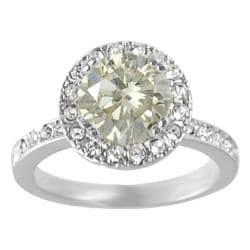 Journee Collection Rhodium-plated Yellow Cubic Zirconia Ring