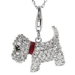 Journee Collection Sterling Silver Cubic Zirconia Scottish Terrier Dog Necklace