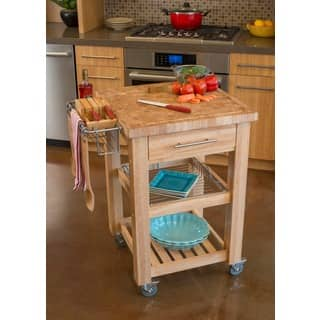 Chris & Chris 24x24-inch Natural Finish Pro Chef Kitchen Work Station|https://ak1.ostkcdn.com/images/products/6719423/P14268386.jpg?impolicy=medium