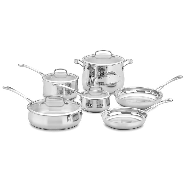 Cuisinart Contoured Stainless Steel 10-piece Cookware Set