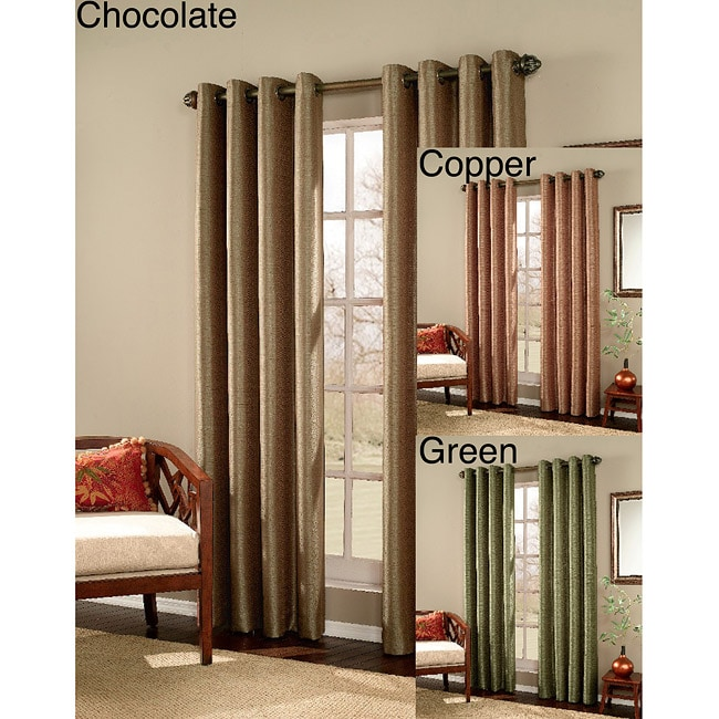 Meridian Grommet 84-Inch Curtain Panel Pair