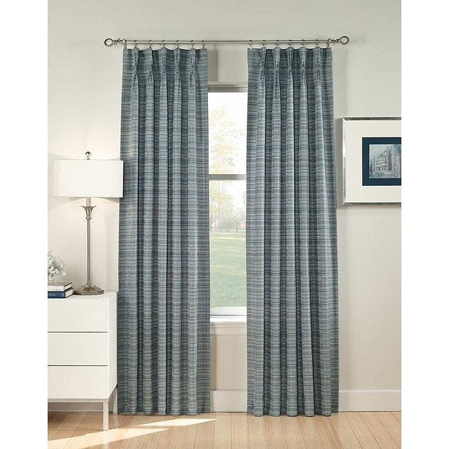 Heritage Pinch Pleat 95 Inch Curtain Panel Pair Free