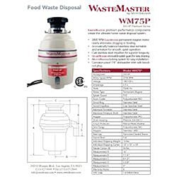 WasteMaster 3/4-HP Garbage Disposal with Stainless Steel Air Switch Kit