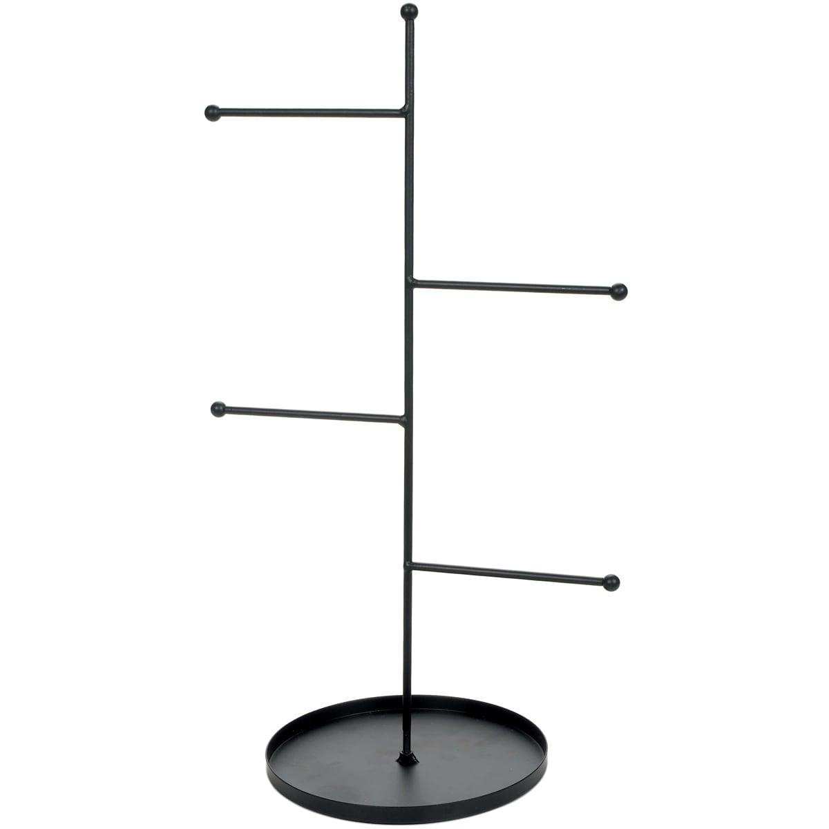 Darice Metal Rungs Jewelry Stand-Black