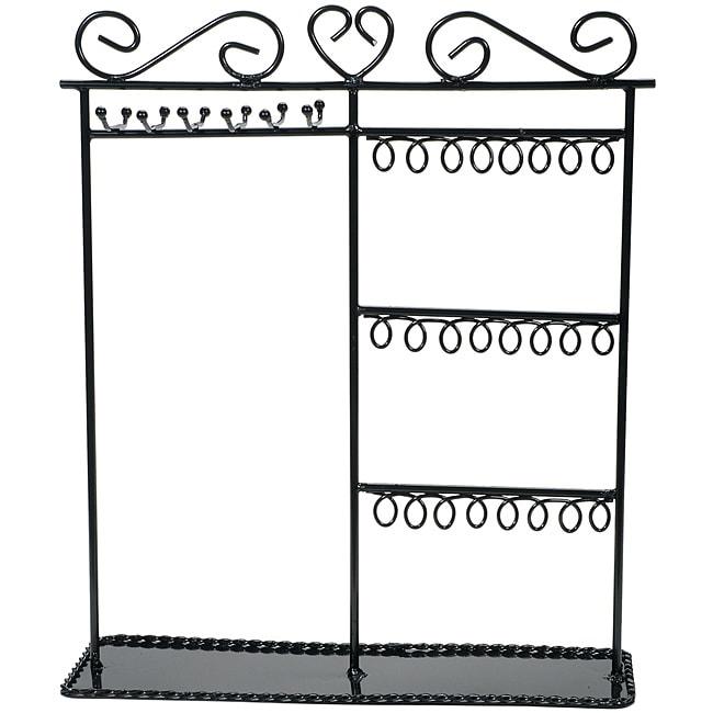 DARICE Metal Jewelry Display Shelf-Black (Black)