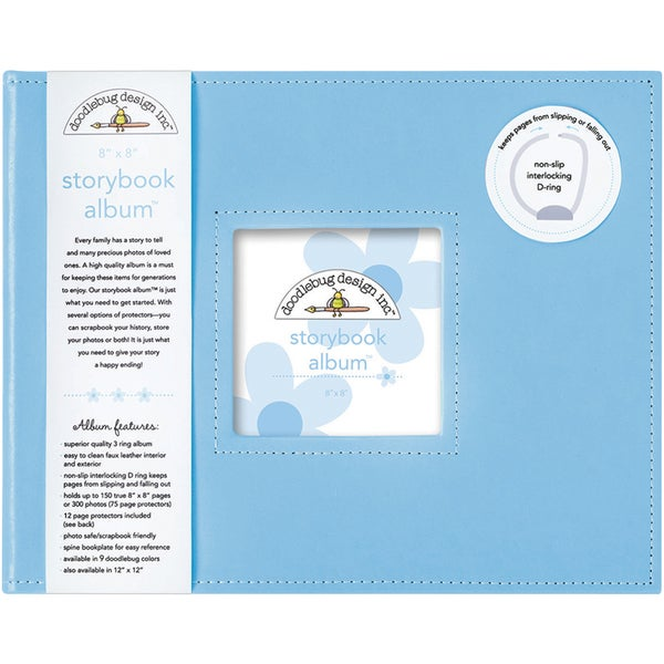 Doodlebug Bubble Blue Storybook Album Free Shipping On Orders