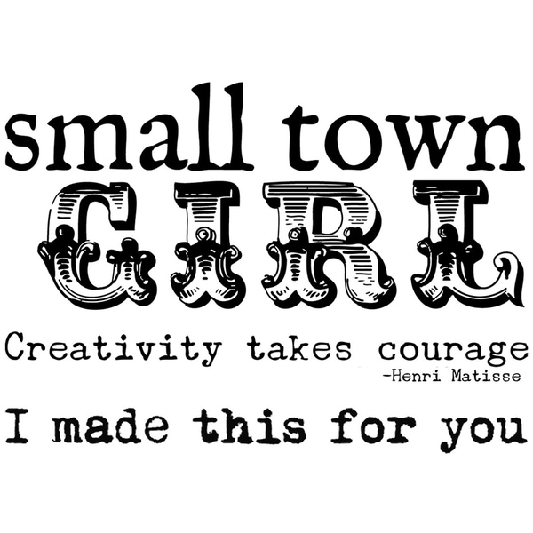 Stampavie Suzi Blu Clear Stamp Small Town Girl
