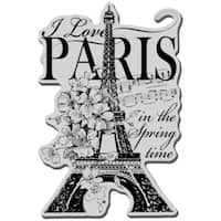 Stampendous Cling Rubber Stamp-I Love Paris