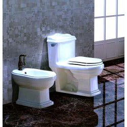 'SYRACUSE' Contemporary European Toilet with Single Flush and Soft Closing Seat Closing Seat - Thumbnail 1