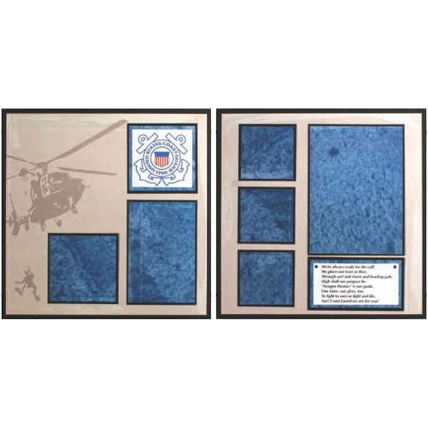 U.S. Coast Guard Page Layout 12X12in