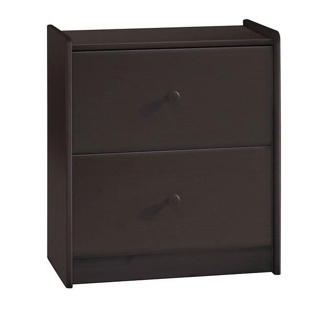 Popsicle Espresso 2-drawer Dresser