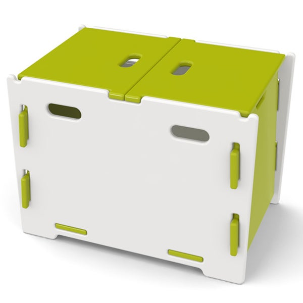 Legare Kids Lime/ White Toy Box
