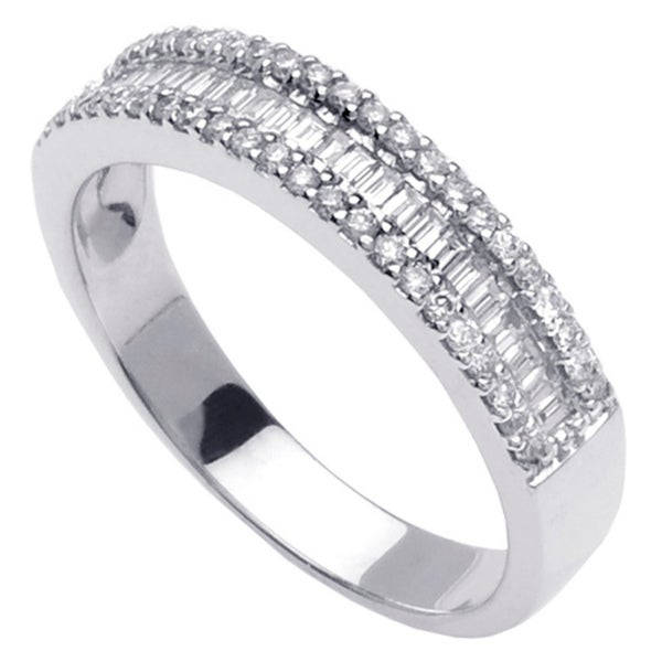 14k White Gold 3/5ct TDW Baguette Diamond Ring
