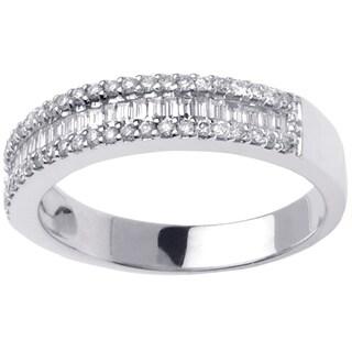 14k White Gold 3/5ct TDW Baguette Diamond Ring