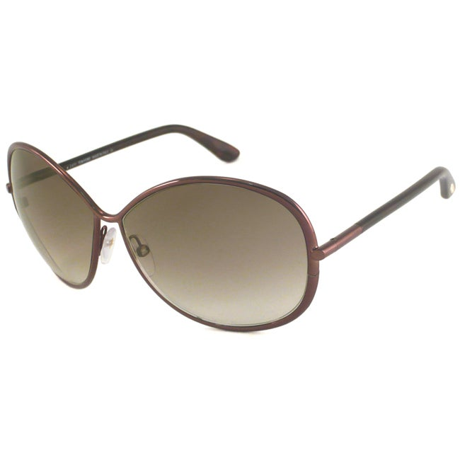 Tom Ford Women's TF0180 Iris Rectangular Sunglasses