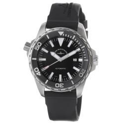 Zeno Men's 'Divers' Black Dial Black Rubber Strap Automatic Watch