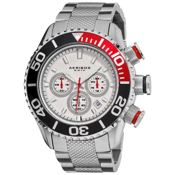 Akribos Men's Large Diver's Chronograph Bracelet Watch