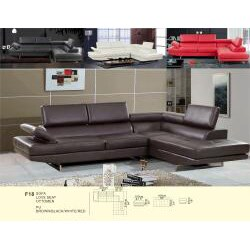 Rivera Red Bonded Leather Two-piece Sectional