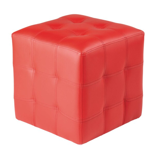 Sunpan 'Urban Unity' 'Dario' Faux Leather Square Ottoman