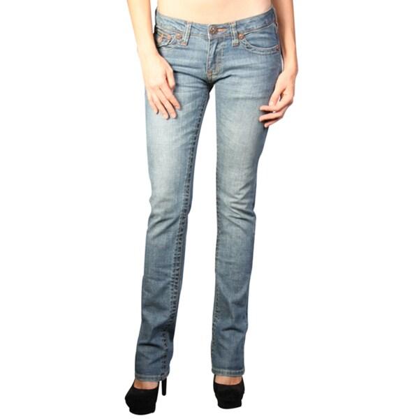 Laguna Beach Women's 'Crystal Cove' Medium Blue Slim Fit Jeans