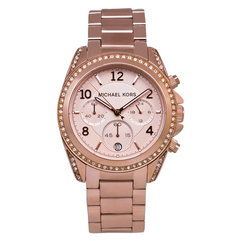 Michael Kors Women's 'Blair' Chronograph Rosegold Watch