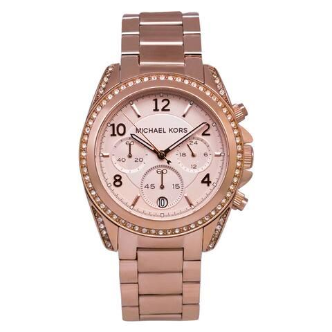 Michael Kors Women's 'Blair' Chronograph Rosegold Watch