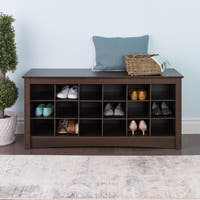The Gray Barn Waggoner Espresso Shoe Storage Cubbie Bench