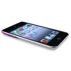 Clear Purple Waterdrop Snap-on Case for Apple iPod Touch Generation 4 - Thumbnail 1