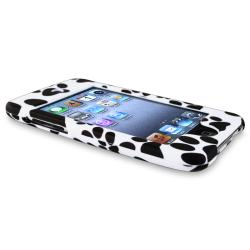 INSTEN Black/ White Paw Snap-On Rubber-Coated iPod Case Cover for Apple iPod Touch Generation 2/ 3
