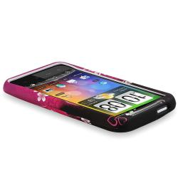 INSTEN Purple Heart Rubber Coated Phone Case Cover for HTC Inspire 4G/ Desire HD - Thumbnail 2