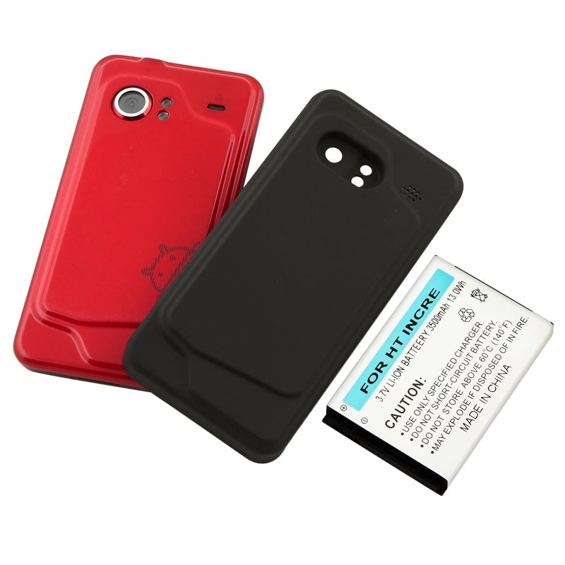 BasAcc Extended Li-Ion Battery with Cover for HTC Droid Incredible - Thumbnail 0