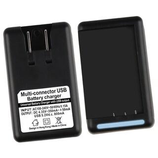 INSTEN Black PVC LED-indicator Battery Charger for HTC EVO 4G
