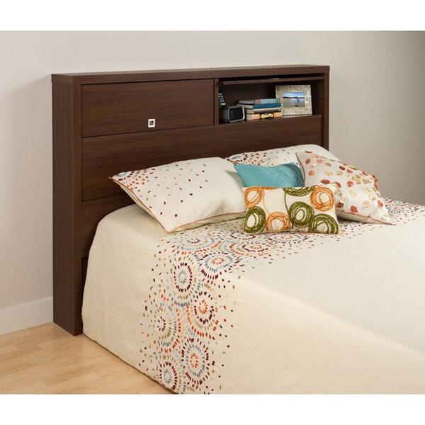 Valhalla Designer Series Medium Brown Walnut 2-Door Storage Headboard