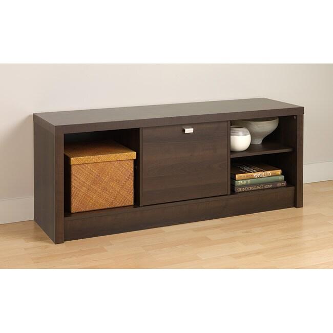 Espresso Valhalla Designer Series Cubbie Bench with Door