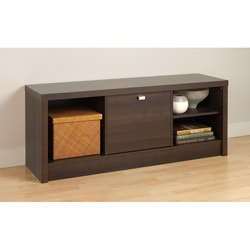 Espresso Valhalla Designer Series Cubbie Bench with Door