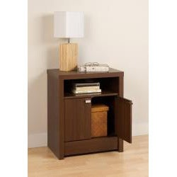 Valhalla Designer Series Medium Brown Walnut 2-Door Nightstand