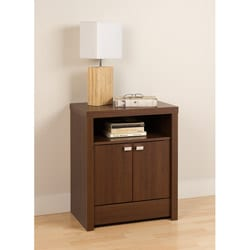 Valhalla Designer Series Medium Brown Walnut 2-Door Nightstand