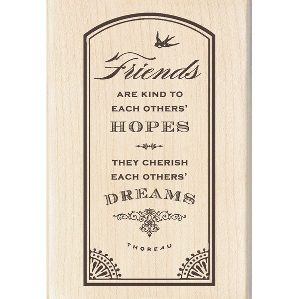 Inkadinkado 'Friends Hopes' Mounted Rubber Stamp