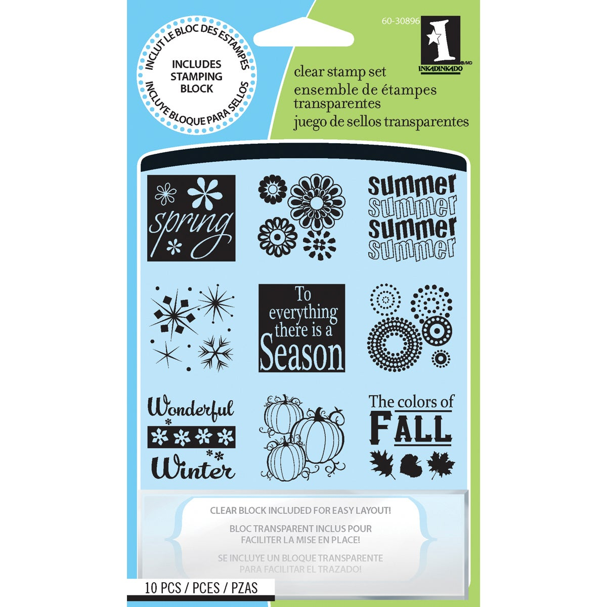 Inkadinkado 'Four Seasons' Inchie Clear Stamps