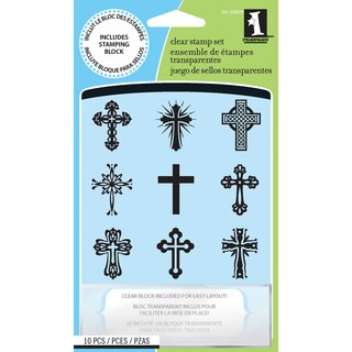 Inkadinkado 'Crosses' Inchie Clear Stamps