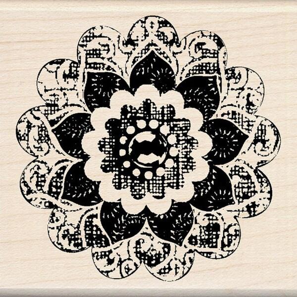 Inkadinkado 'Button Flower' Mounted Rubber Stamp