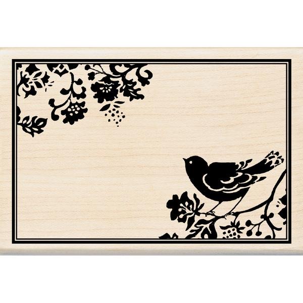 Inkadinkado 'Bird Frame' Mounted Rubber Stamp