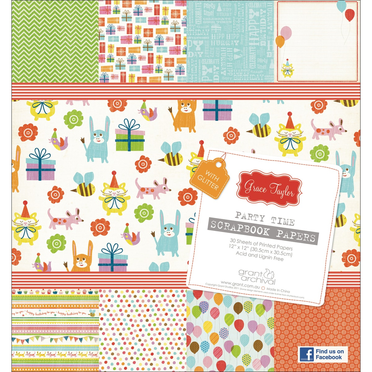 Grace Taylor Collection 'Partytime' Paper Pad 12X12in