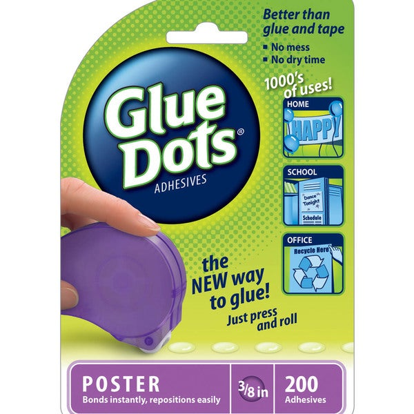 Glue Dots 'Poster' 200 Clear Dot 'n Go Disposable Dispenser