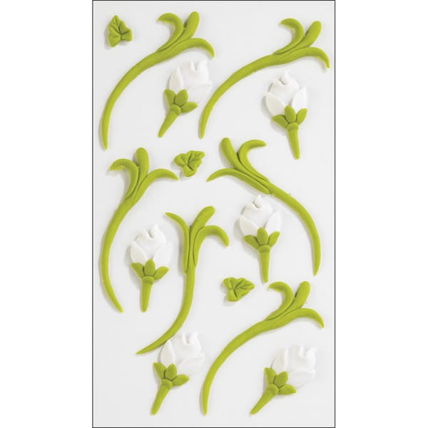 Jolee's 'Green and White Icing Buds' Confections Stickers