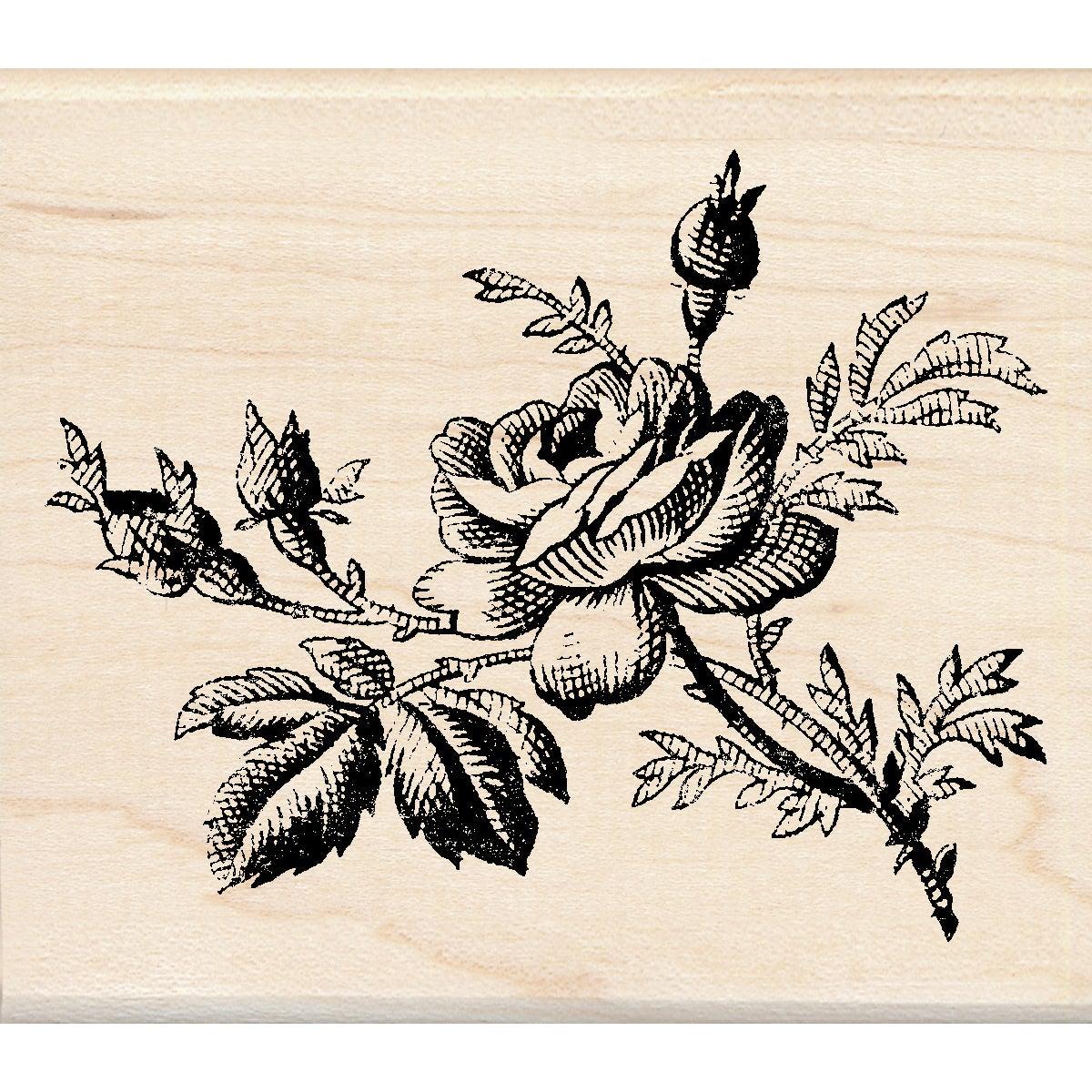 Inkadinkado Mounted Rubber Stamp -Vintage Rose